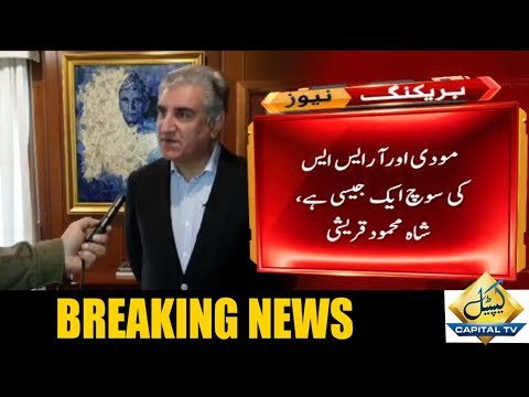 India is divided on the issue of revoking Kashmir's special status: Shah Mehmood Qureshi