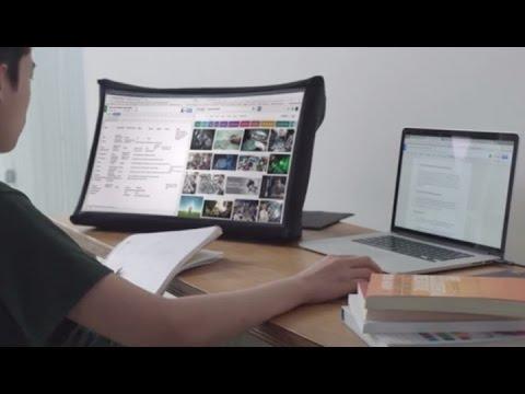 SPUD, el monitor de 24 pulgadas que se pliega como un paraguas