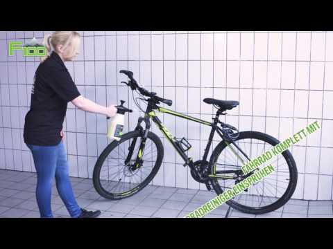 Fahrrad reinigen mit dem Drucksprüher von F100