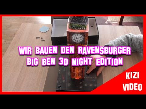 Ravensburger 3D Puzzle BIG BEN night Edition - Wir bauen ihn zusammen I ANLEITUNG