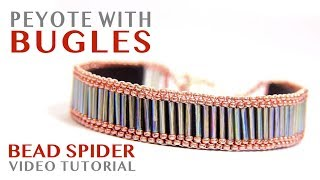 How To Make Single Peyote Stitch Bugle Beaded Bracelet - Easy DIY Jewelry Tutorial