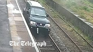 video: Watch: Man jailed after being caught driving on railway tracks