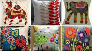 Hand Embroidery Aplic Work Cushion Designs / Rilli Work / Applique Pillows /  Patch Work Pillows