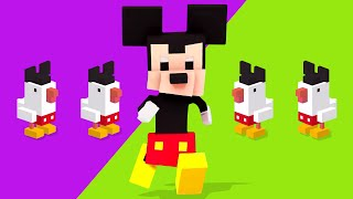 CROSSING ALL OF DISNEY - Disney Crossy Road - Husband vs Wife! by iHasCupquake