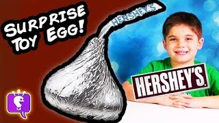 HobbyKids Open a Giant Hershey's TOY Surprise Egg