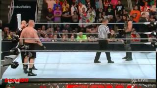 Brock Lesnar vs Seth Rollins for the WWE World Heavyweight Championship on Raw (March 30th, 2015)