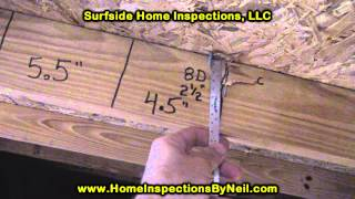 Home Wind Mitigation Inspection Nail Spacing in Daytona Beach