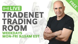 Live Tradenet Day Trading Room - 08/10/2020 - Unemployment Benefits Extended
