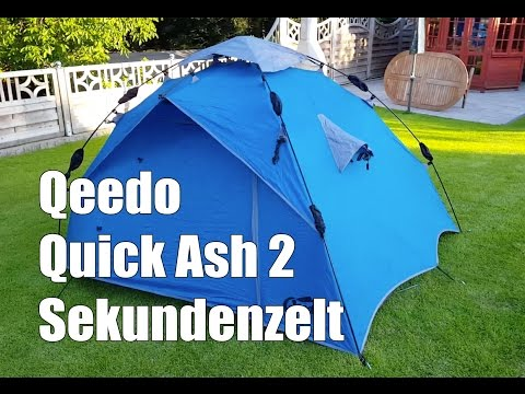 Qeedo - Quick Ash 2 Personen Sekundenzelt Schnellaufbauzelt