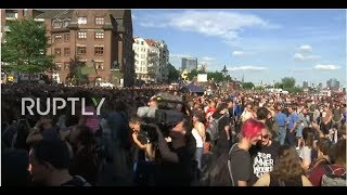 LIVE: 'Welcome to Hell' anti-capitalist demonstration hits Hamburg ahead of G20 Summit