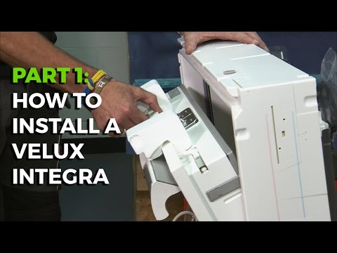 How to install a Velux Integra Electric Roof Window - Part 1