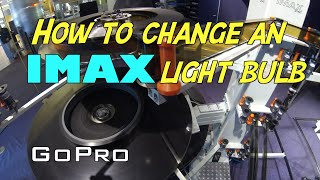 How many projectionists does it take to change an IMAX bulb?
