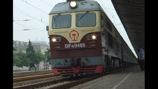 preview picture of video '[China Railway]DF4D+25B Train No.4612 Arriving in Pingyao Station 同蒲線普快4612列車平遥駅到着'