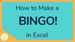 How to Create a Bingo Board Using Excel