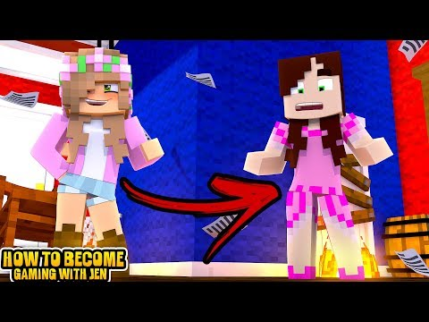 LITTLE KELLY BECOMES GAMING WITH JEN!! | Minecraft Little Kelly