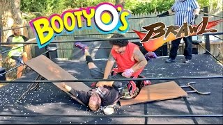 GRIM SLAMMED THROUGH TABLE OF BOOTY O'S CEREAL! WRESTLING MATCH GONE WRONG!