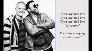 If You Can't Find Love - Sting & Shaggy - (Lyrics)