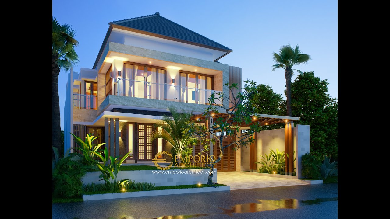 Video 3D Mr. Ahyar Modern House 2 Floors Design - Aceh