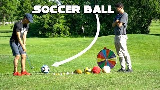 Random Sports Ball Golf Challenge | Wheel Of Not Ideal