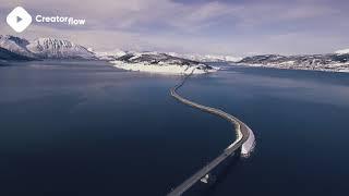 ???? Norway Bridges Stock Footage | DJI Phantom 4 4K Royalty free stock video footage