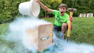 FREEZING ABANDONED SAFE!! (LIQUID NITROGEN) - Video Youtube