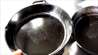 How to Polish a New Cast Iron Pan  New Cast Iron VS Old Cast Iron
