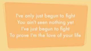 Natalia   I've Only Begun To Fight Lyrics