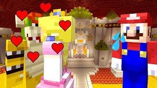 MARIO CAUGHT PEACH KISSING BOWSER! *HEART BROKEN!*   Super Mario Series   Minecraft [265]