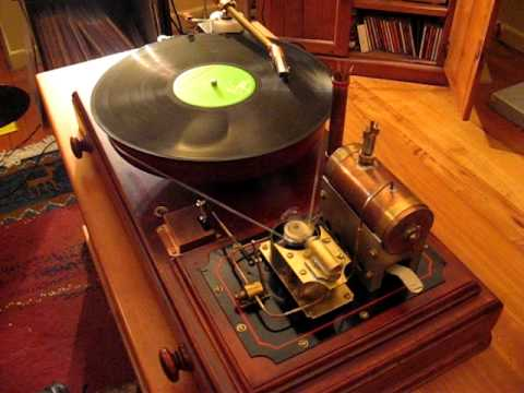 Watch This Steam-Powered Vinyl Play Doubly Retro Rock And Roll