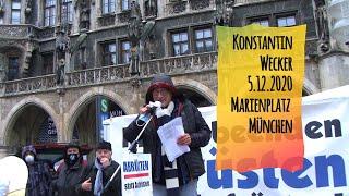 Konstantin Wecker: Lockdown für Rüstung und Militär! Marienplatz München 5. Dezember 2020