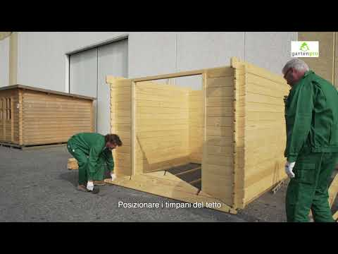 Video montaggio casetta in legno da giardino
