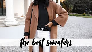MY SWEATER COLLECTION - the best sweaters for winter (trying on all my clothes) | Mademoiselle