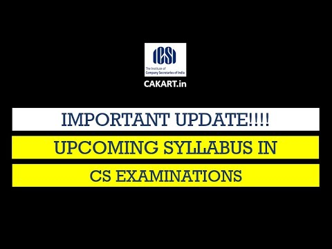 upcoming syllabus changes in CS Executive