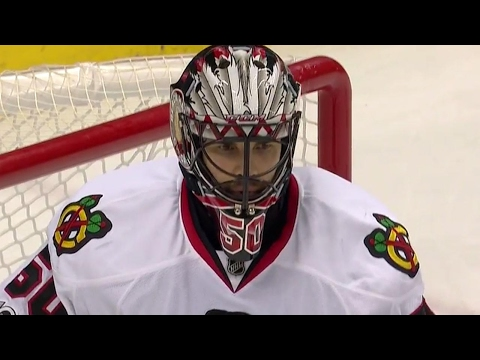 Crawford keeps Penguins off the board with a quick glove save