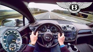 Bentley Bentayga W12 Acceleration POV Autobahn 290 km/h Drive by AutoTopNL