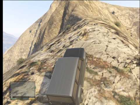 GTA V - Driving A Jeep Off A Mountain | Gameplay