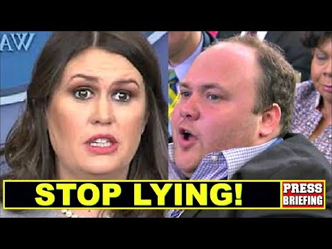 Reporter Surprises Sarah Sanders & calls her out for Iying