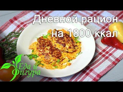 ПП Рацион на 1800 ккал.  Для тех кто не хочет набрать лишнего веса
