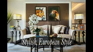 Interior Design Styles - Stylish, European Style Living Room