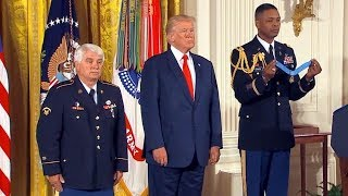 President Trump presents first Medal of Honor to Vietnam vet. James McCloughan.