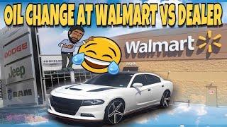 WHY I GET MY OIL CHANGE AT WALMART VS DODGE DEALERSHIP