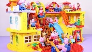 Peppa Pig Lego House Building With Water Slide Toys #3