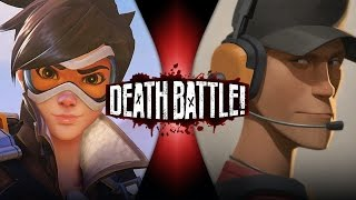 Tracer VS Scout (Overwatch VS Team Fortress 2) | DEATH BATTLE!
