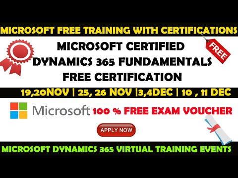 Microsoft Free Training with Certification | Microsoft Dynamics Free ...