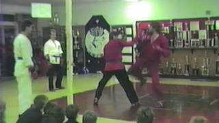 John Henderson Black Belt Test at Ray Rice Martial Arts 1988 Sparring Kumite