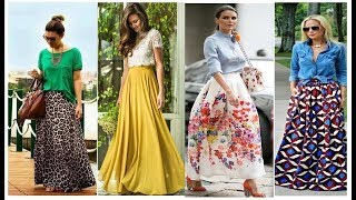 100 Way To Wear Long Skirts Like Star | Long Skirt Outfit 2019 |Daily Wear Long Skirt Design Images