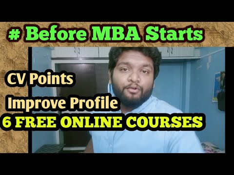 FREE ONLINE COURSES! Must Do BEFORE MBA - YouTube