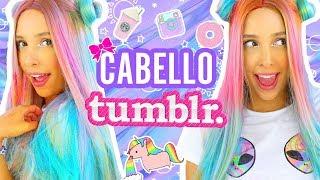 NUEVO LOOK!! Cabello TUMBLR de UNICORNIO SIN TINTE 🦄   Mariale