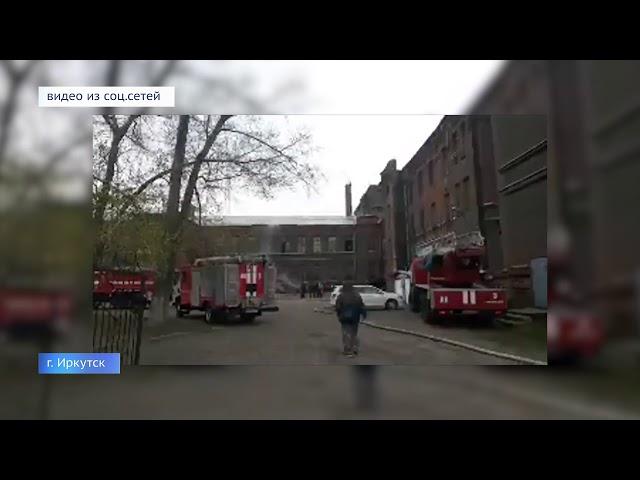 Студентов эвакуировали из горящего техникума