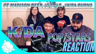Non-Kpop Fans REACT to K/DA - POP/STARS ft. Madison Beer, (G)I-DLE, Jaira Burns